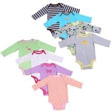 1 PCS ! Baby Girl Boy Bodysuits long-sleeve Infant Baby Clothing Newborn Bodysuits Clothes 100% Cotton 0-24month Spring
