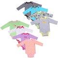 1 PCS! bebê menino menina bodysuits longo-luva infantil bebê 0-24month clothing bodysuits recém-nascidos roupas 100% algodão primavera