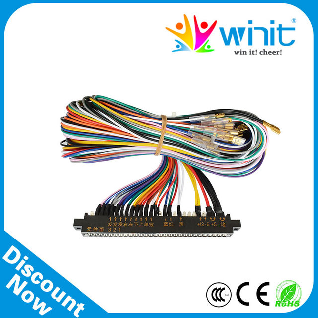 US $9.8 21% OFF 28 Pin Jamma Harness Loom Wires Jamma Wiring For Arcade  Stand Alone Wiring Harness Diy on