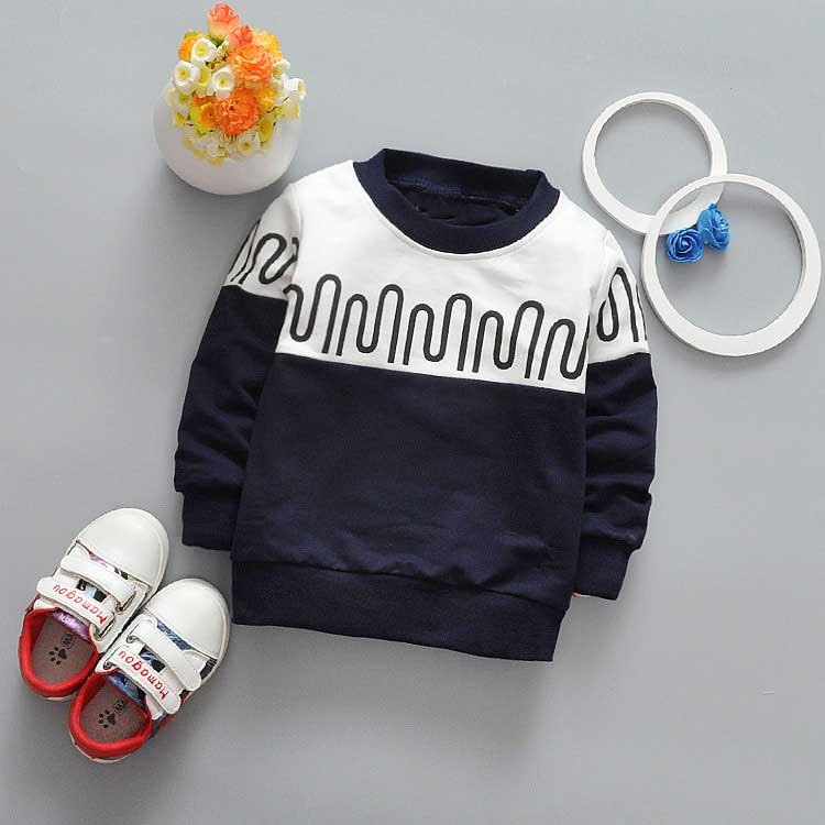 New-spring-Autumn-Casual-boys-Kids-Children-patchwork-Wave-stripe-printing-Long-Sleeve-o-neck-Baby-T-shirt-Y2061-3