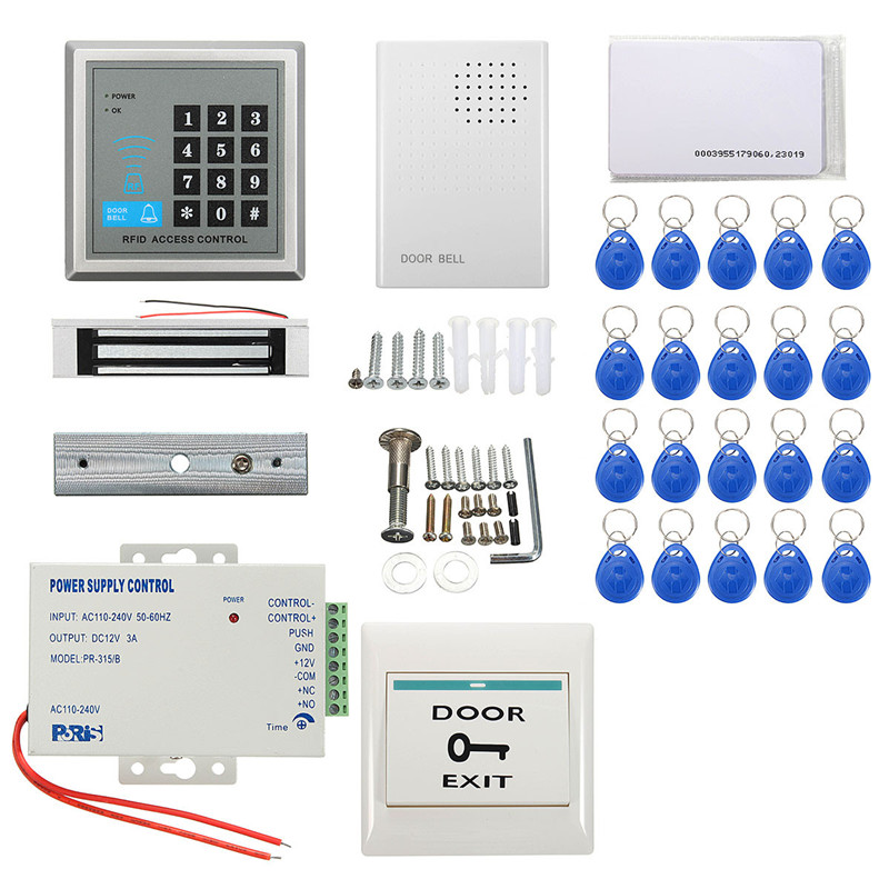 New Arrival  Security RFID Access Control Electric Magnetic Door Lock ID Card Password System Durable Quality diysecur magnetic lock door lock 125khz rfid password keypad access control system security kit for home office