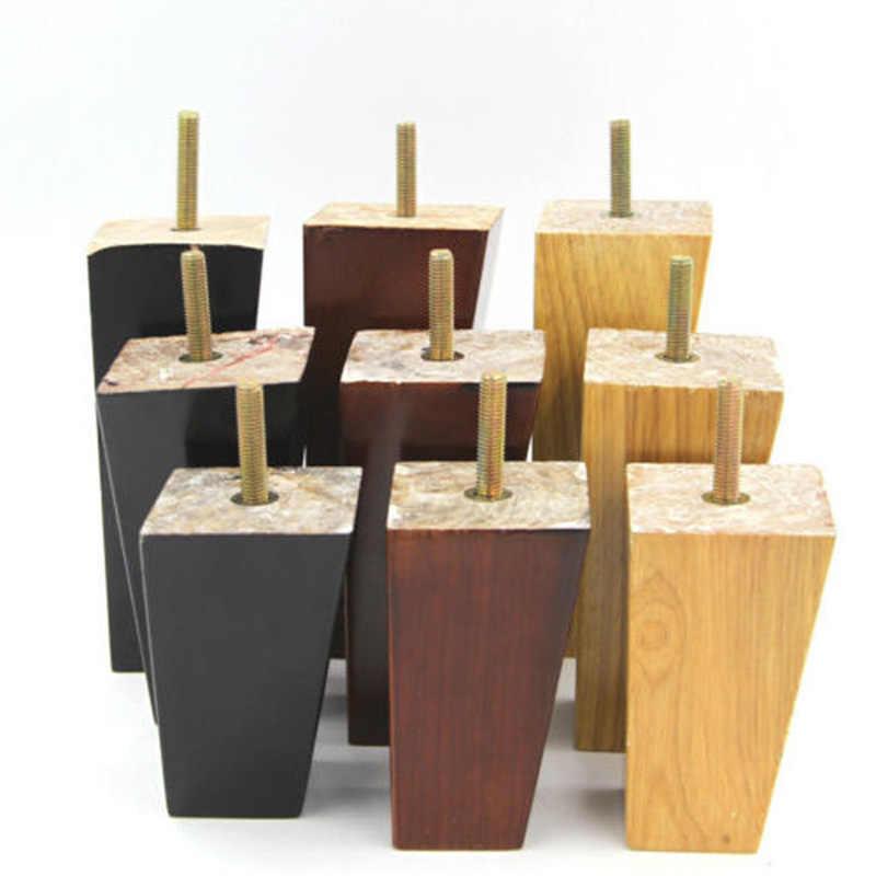 4 шт. в наборе 4 ''5'' 6 ''твердой древесины конус диван ноги шкаф стул ТВ Чай Таблица кровать Мебель Средства ухода за кожей стоп 3 Размеры дополнительно
