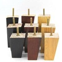 4pc 4 5 6 Solid Wood Taper Sofa Legs Wardrobe Cabinet Chair Furniture Feet