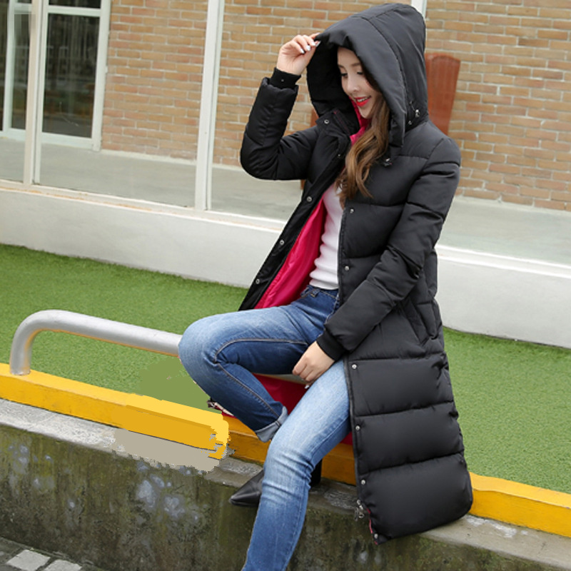 Fashionable Coat Jacket Women's Hooded Warm   Parkas   Hight Quality Female New Winter Collection Hot Wadded Cotton Coat MZ1664