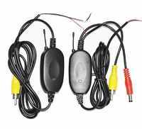 Aparcamiento inalámbrico coche B ackup RCA Video 2,4 GHz, receptor transmisor kit de coche cámara trasera inalámbrica inversa coche DVD GPS Monitor