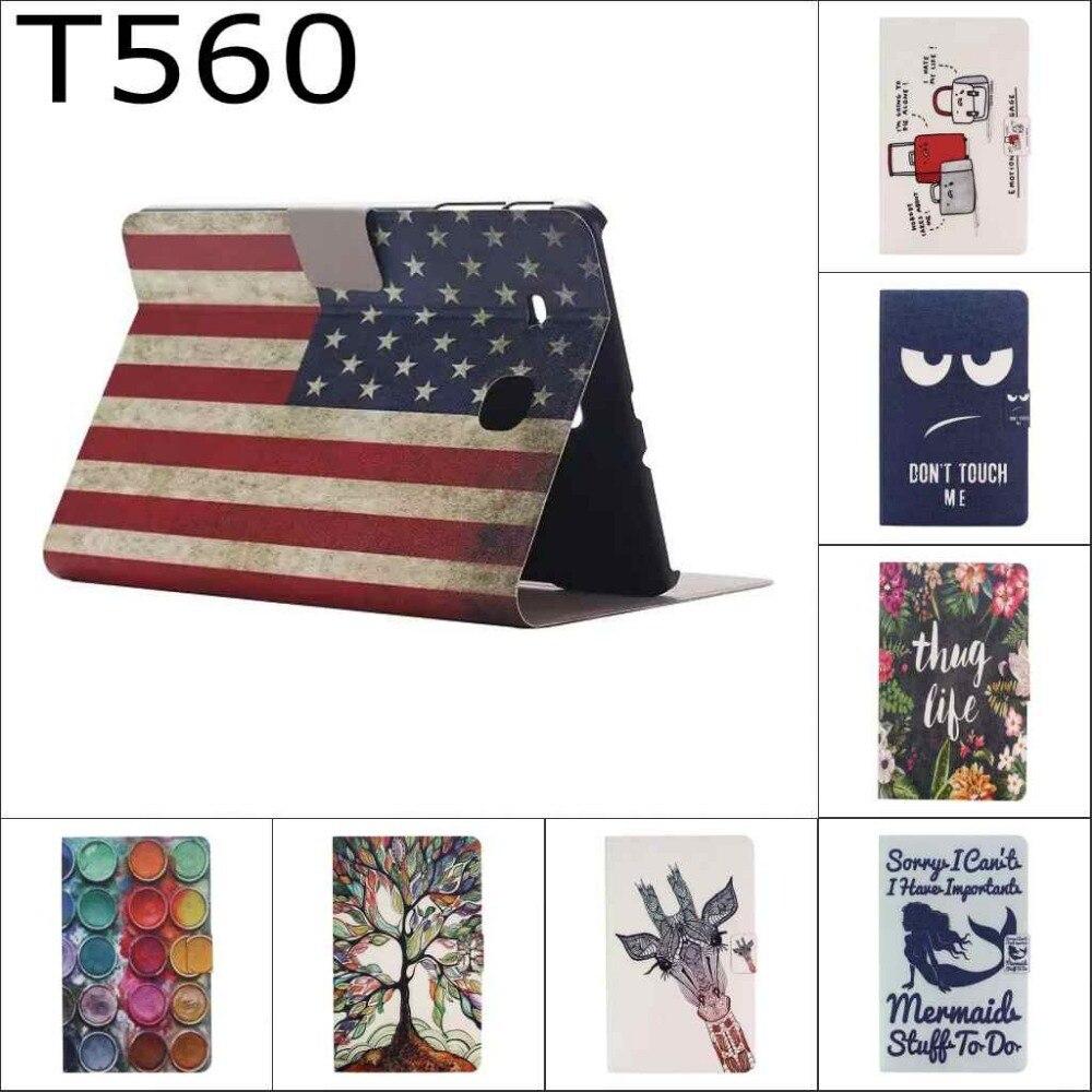 Мода мультфильм милый США Флаг Великобритании кошелек карты искусственная кожа Стенд держатель чехол для Samsung Galaxy Tab E 9.6 T560 sm-t560 t561
