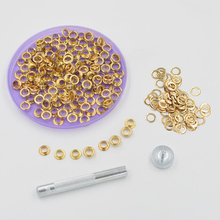 200 sets per package 400# Eyelets rivets. Corn. Color buttonholes. 6mm  corns buckle. Eyelets.