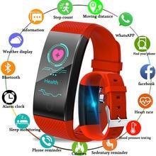 купить 2019LIGE Smart Bracelet Bluetooth Heart Rate Blood Pressure Monitor Sleep Monitoring Pedometer Health Monitoring Smart Wristband по цене 1171.71 рублей
