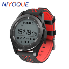 NIYOQUE Smart Watch F3 IP68 Waterproof Support Swim Altitude Meter Thermometer Pedometer Smartwatch for IOS Android Sport Watch
