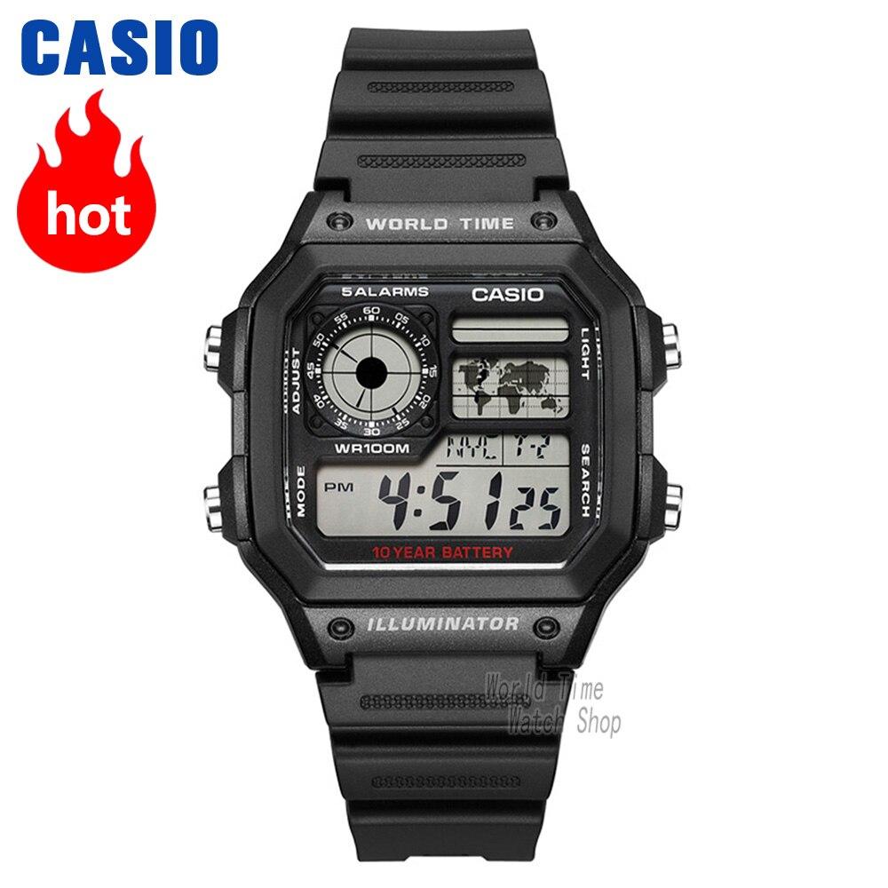 5b2f8256b4b Casio relógio Analógico de quartzo dos homens sports watch Casual relógio  estudante tendência AE 1300 AE 1200 em Relógios de quartzo de Relógios no  ...