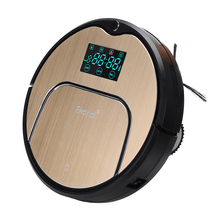 Eworld Mop Robot Vacuum Cleaner for Home, M883 Golden lid HEPA Filter Sensor Remote Control Self Charge ROBOT ASPIRADOR For Home