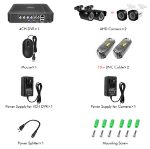 Image 5 - Hiseeu 4CH DVR CCTV System 2PCS Cameras 2CH 2MP IR Outdoor Security Camera 720P 1080P AHD CCTV DVR 1200 TVL Surveillance Kit