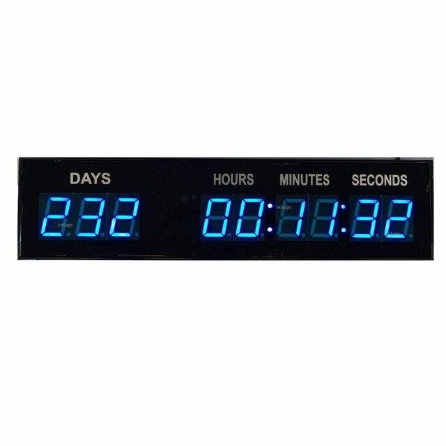 160caf5e6 1,8 ''9 dígitos azul LED evento cuenta regresiva Reloj de pared Lap ...