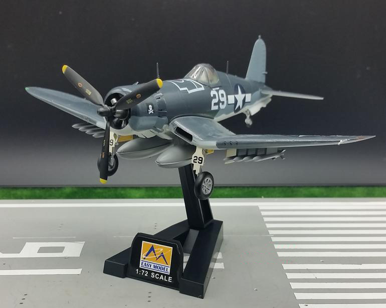 1:72 Scale Model Toy World War II United States F4U-1 Fighter Model Trumpet Hand Collection Models