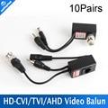 10Pair/lot CCTV CAT5/5E/6 Cable Balun RJ45 Video Power Balun Video Audio Power For HD AHD,HDCVI HDTVI 720P CCTV Camera