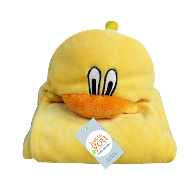 GL Comfortable Cute Animal Cartoon Hooded Bath Towel