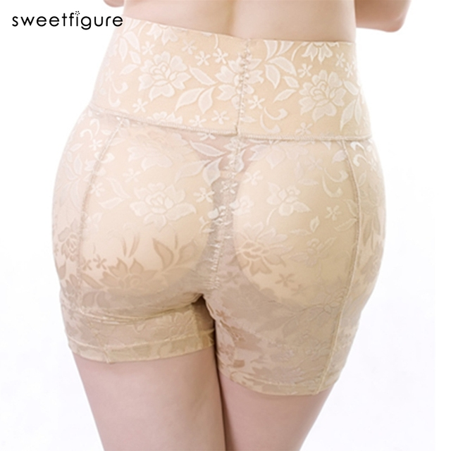 High waist Abundant fake Push Up Padded Panties butt Lifter hip pants sexy Lace Buttock Underwear Control Panties WomenUnderwear