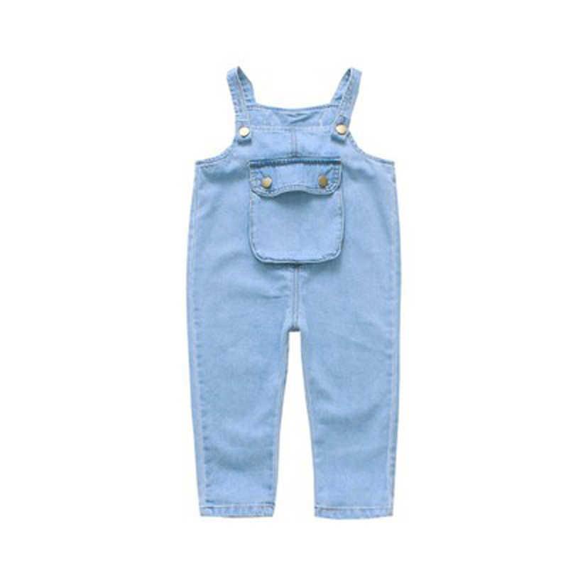 R & Z เด็กกางเกง 2019 ฤดูใบไม้ผลิและฤดูใบไม้ร่วงสาวใหม่แฟชั่นกางเกงยีนส์เด็กปีกกระเป๋าขนาดใหญ่กางเกงยีนส์