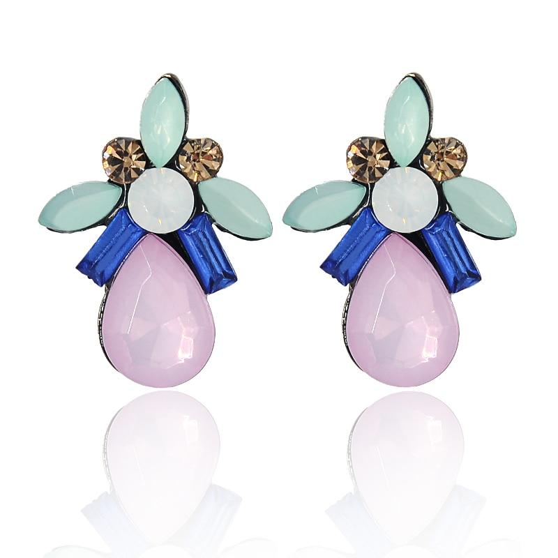 fabdf6b9c214 Gota de agua moda Pendientes vintage gótico diseñador cristal Rosa  Pendientes para las mujeres al por mayor E-620