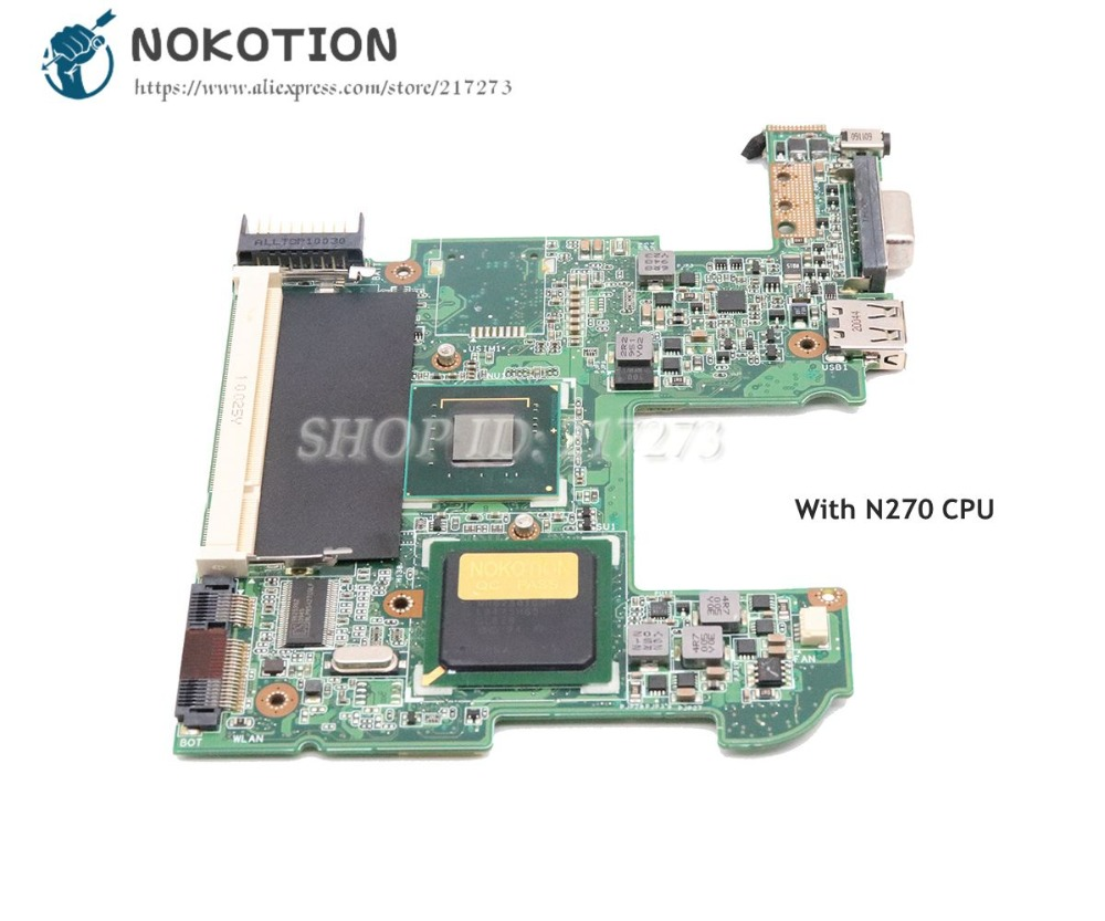 Carte principale NOKOTION 08G2005HA13Q pour ASUS Eee PC 1005HA carte mère d'ordinateur portable 945GSE N270 CPU DDR2