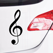 цена на CK2024#10*26cm Treble clef funny car sticker vinyl decal silver/black car auto stickers for car bumper window car decorations