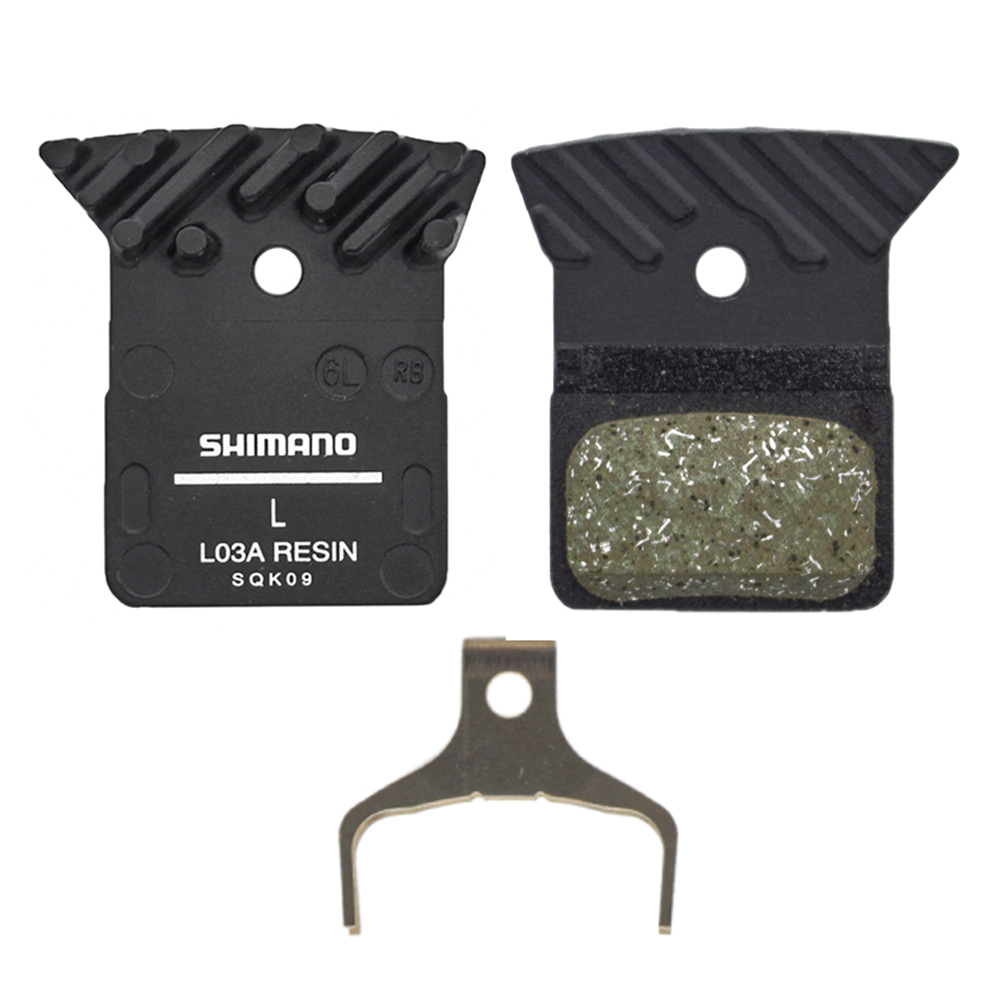 Shimano BR-RS505 Front Flat-Mount Disc Brake Caliper with Resin Pads with Fins
