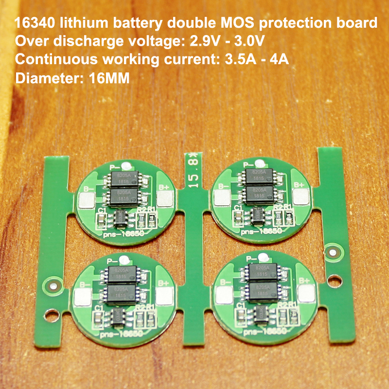 1pcs/lot 6a Current 16340 Lithium Battery Precision G3jk Double Mos 4.2v Diy Fittings