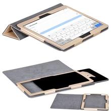 ocube 50pcs 3-Folder Folio Stand Silk Print PU Leather Cases Cover For Huawei MediaPad M3 Lite 10 BAH-W09 BAH-AL00 10.1″Tablet