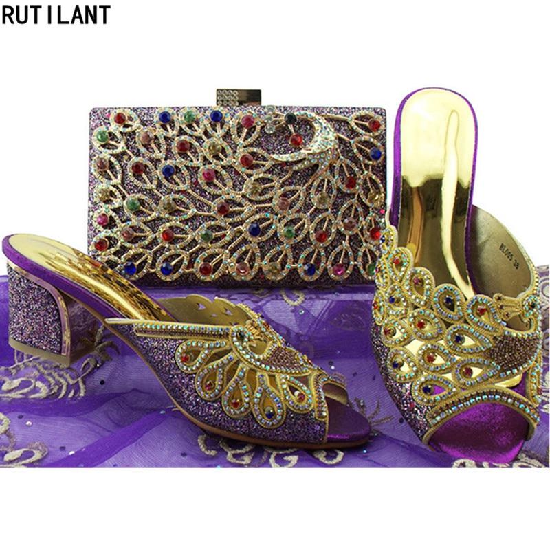 2018 or Royal Femmes De Et Chaussures Strass Noir Africain Sac Décoré Italiennes Dames Ensembles argent Avec bleu Africaines Ensemble fuchsia pourpre p1Onqz4xw