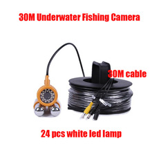 Underwater Video Fishing Camera With 30m Cable 24 pcs Bright illuminated LEDs Underwater camera SKC006A30