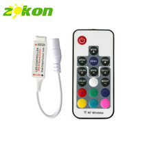 Mini RGB Led Controller 12V RF Wireless 3 Channels 17 Keys Remote Control for SMD 5050 RGB Led Strip Light Module Lighting