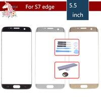 Original Für Samsung Galaxy S7 Rand G935F G935 SM-G935F G935FD G935A Front Outer Glas Objektiv Touch Screen Panel Ersatz