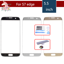 Original For Samsung Galaxy S7 Edge G935F G935 SM-G935F G935FD G935A Front Outer Glass Lens Touch Screen Panel Replacement стоимость