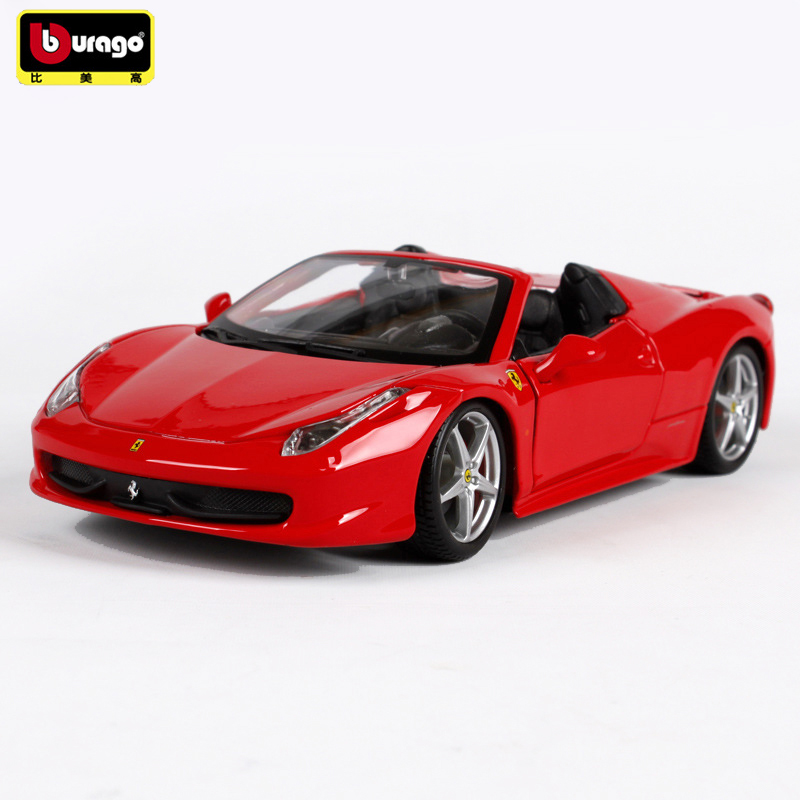 Bburago 458 SPIDER 1:24 Metal Alloy Car Model Toys Diecasts & Toy Vehicles Collection Kids Toys Gift bburago 360 challengr 1 24 alloy car model toys diecasts