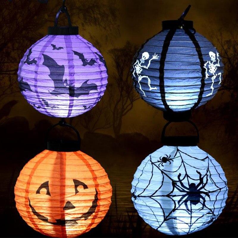 Хэллоуин Тыква световой Бумага Фонари украшения led Бумага светильник подвесной светильник реквизит открытый вечеринок ali88