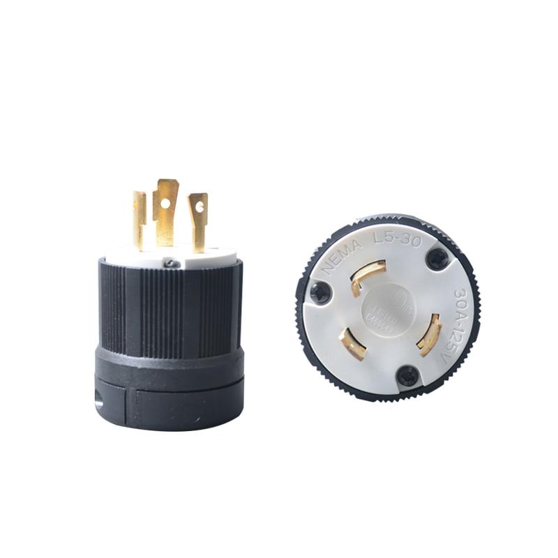 US $12.67 31% OFF|2Pcs UL Twist Lock Electrical Plug Adapter Socket on 3 phase plug, 3 wood plug, 3 prong plug, 3 pin plug, 2 wire plug, 6 wire plug, 4 wire plug,