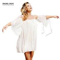 Vintage vichy brand New summer beach slash neck Chiffon party 2128 dress Vichy robe clothing UK dresses Casual Vichy RV0227
