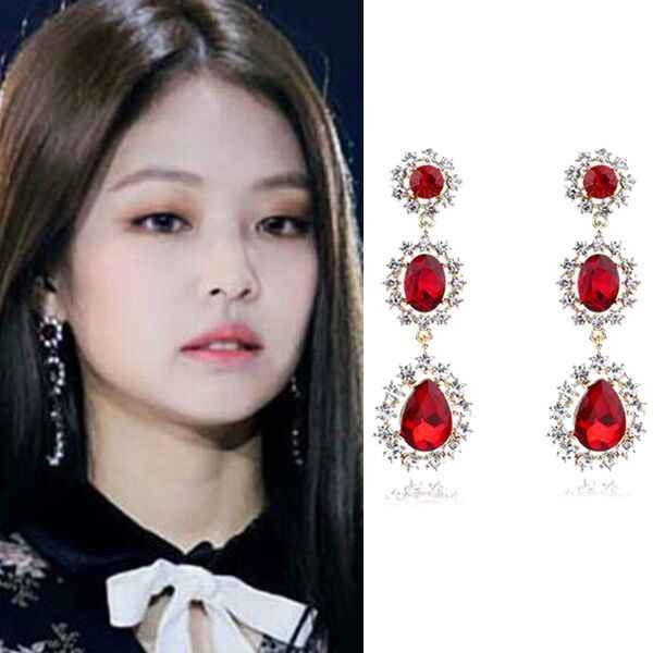 MENGJIQIAO 2018 New Exaggerate Big Water Drop Crystal Long Earrings For Women Luxury Party Jewelry Rhinestone Dangle Pendientes