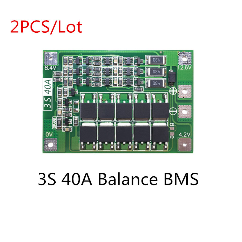 Power Source Mayitr 1pc 3s 11.1v 12.6v 40a 18650 Li-ion Lithium Battery Bms Protection Board Balanced Version For Integrated Circuits Batteries