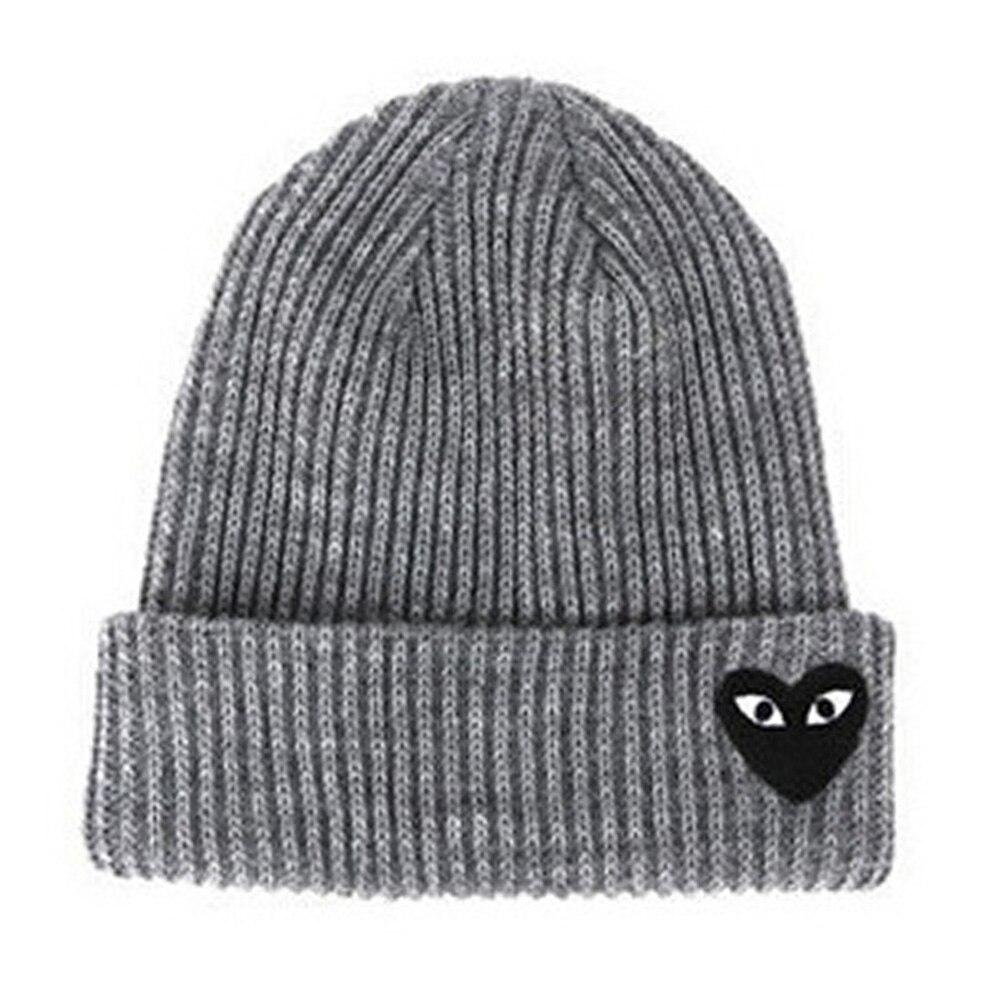 Winter Women Warm Hats Heart Eyes Cartoon Label Beanies Knit Hat Bonnet  Caps Men Hat Crochet Cap Skullies Gorros-in Skullies   Beanies from Apparel  ... 0350f9862464