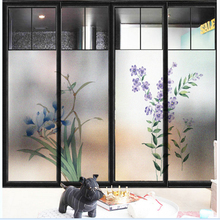 Window Glass stickers Foil Door Opaque Orchid Toilet Bathroom frosted glass film Sticker