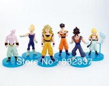 Pop Dragon Ball Super saiyan Action Figures Goku vegeta Buu Gohan 6pcs/set Free Shipping