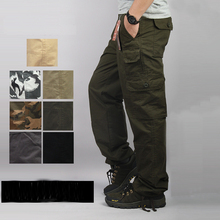 Cargo Pants Men Casual Plus Size Cotton Breathable Multi Pocket Military Army Camouflage Cargo Pants For