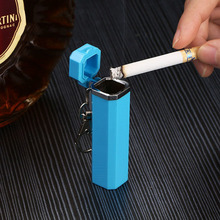 Cylindrical Mini Ash Tray Zinc Alloy ABS Portable Smoke Ashtray Smokeless Ashtray Boyfriend Gift Ideas Cigarette Accessories цена в Москве и Питере