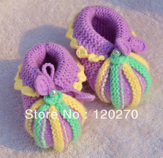 custom boutique pumpkin infant footwear crochet baby girls first