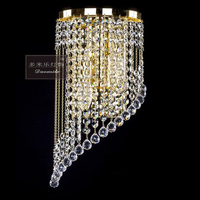 LED Mirror Light Modern Bathroom Cosmetic Crystal Wall Lamps 1 4heads Stainless Steel indoor Lighting fixtures