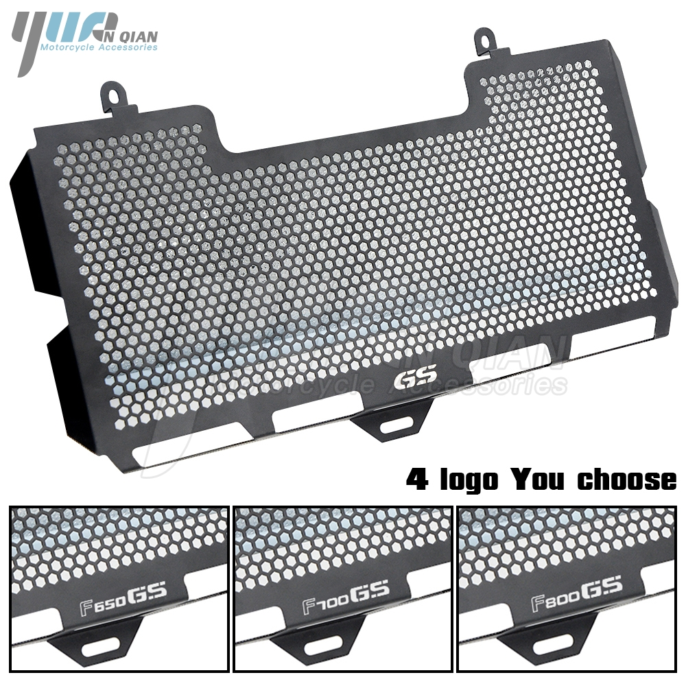 YUANQIAN BLACK Stainless Steel Radiator Grille Guard Cover For BMW F650 F650GS F700GS F800GS F800R 2008-2017 2018 f650gs f800gs car front bumper mesh grille around trim racing grills 2013 2016 for ford ecosport quality stainless steel