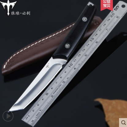 OUTDOORS STEELKnife Survival Hunting Knife Camping Tools man gift stainless steel wood Training Knife tools tactical defense