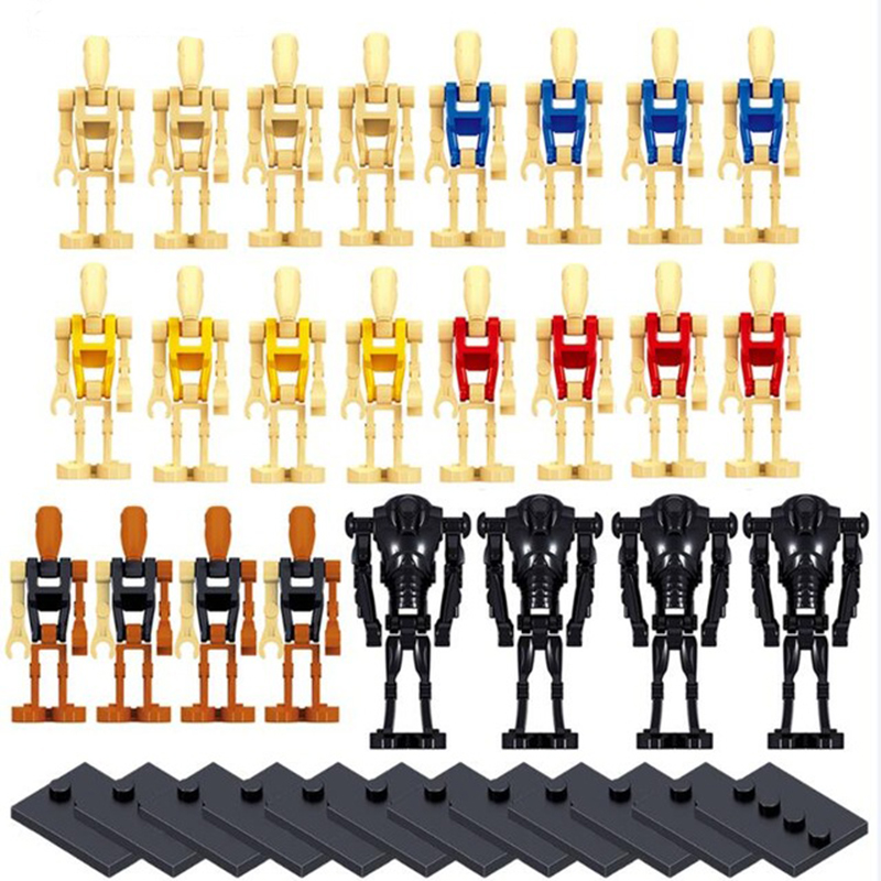 2018 NEW Star Wars 24pcs/set Battle Droid Ro-go Building Blocks Toys for Kids Boys Gifts LegoINGlys Starwars Children MiniFigure 2017 new 565pcs bela 10374 star wars battle droid troop carrier spaceship vessel cruiser jar binks blaster brinquedos leping