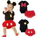 New set Mickey minnie Cartoon Romper climbing clothes baby jumpsuit baby clothes Romper